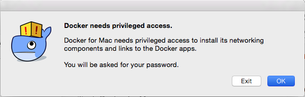 docker for mac password