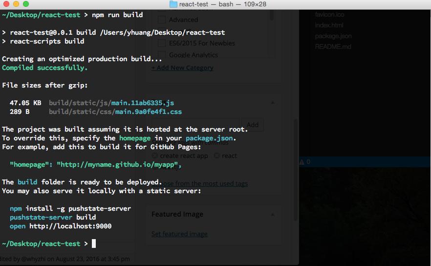 create react app production build