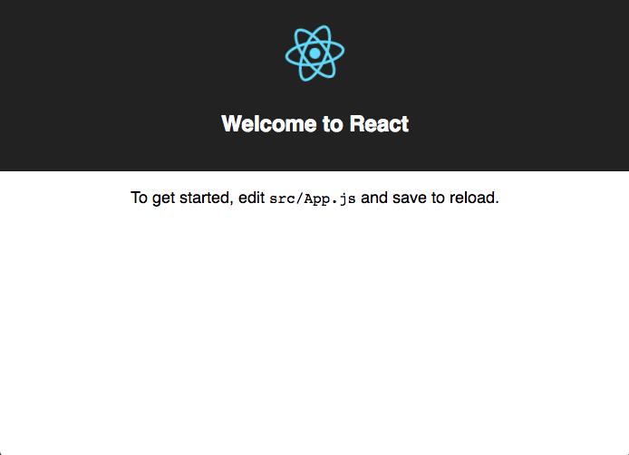 create react app start screen