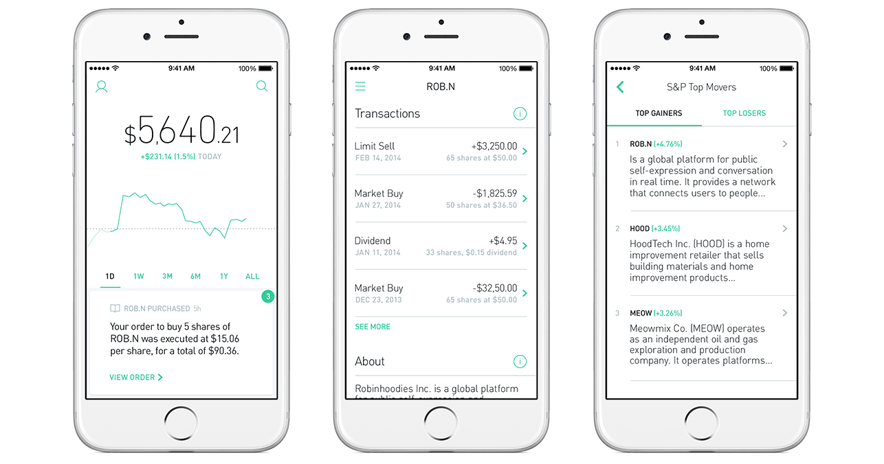 robinhood stock app