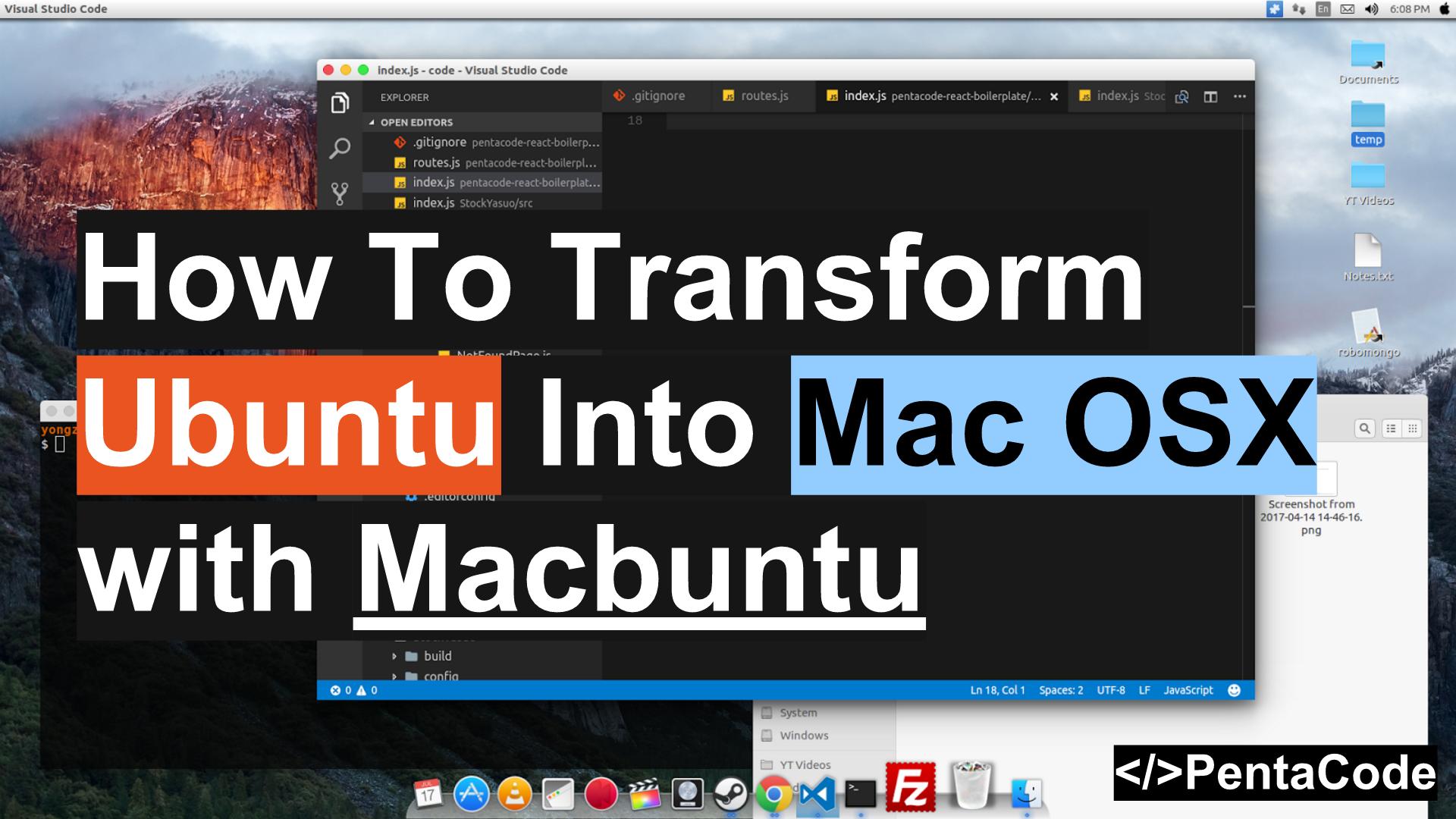 How To Transform Ubuntu Into Mac OSX with Macbuntu | Pentacode